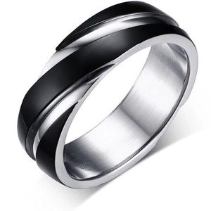 Other - Mens Stainless Steel Swirl Ring